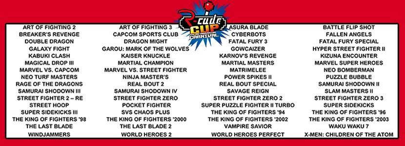 liste des jeux arcade r-cade cup