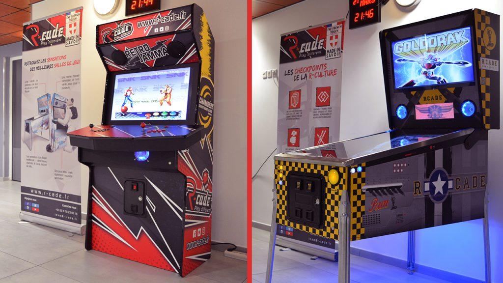 borne d'arcade et flipper numérique espace gold CSMBH