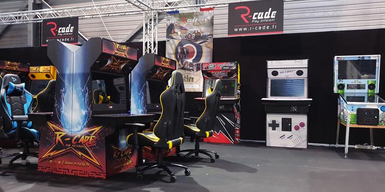 stand r-cade borne d'arcade flipper